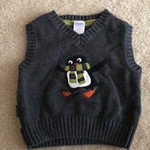 Gymboree penguin sweater vest size 12-18mos